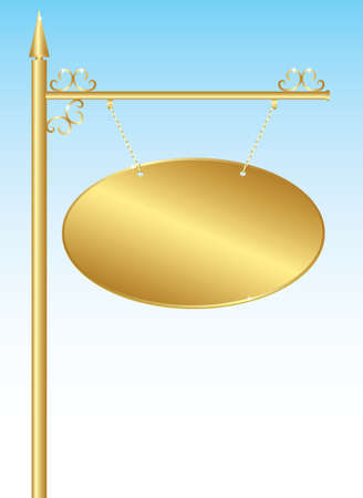 gloss: Golden plate sign