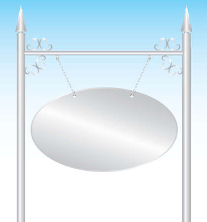 silver plate: Silver plate sign. Vector