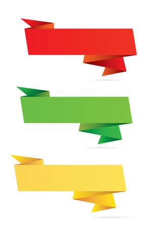 Paper origami label 向量圖像