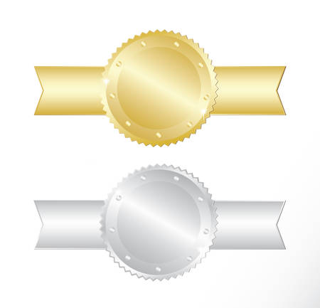 qualify: Gold and silver award. Vector