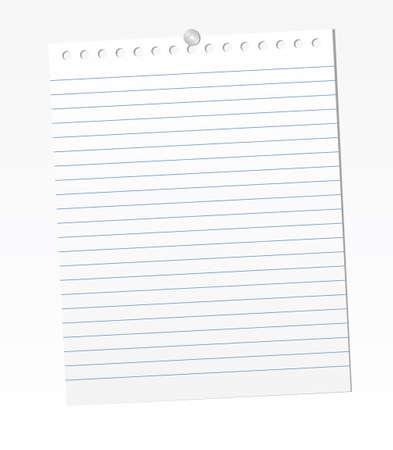 空白の罫線入り用紙シート。ベクトル