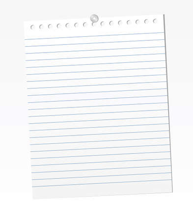 Blank lined paper sheets. Vector