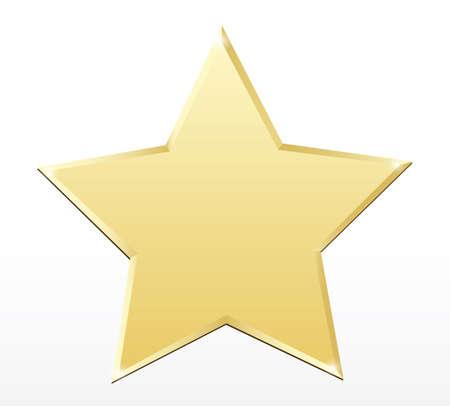 star award: Gold star label.