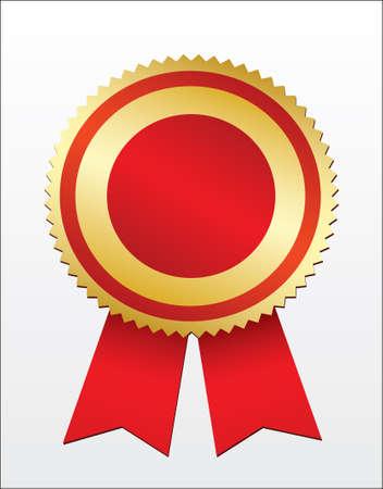star award: blank gold award. Vector Illustration