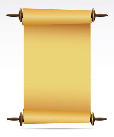 scroll: Scroll of old paper. Vector Illustration