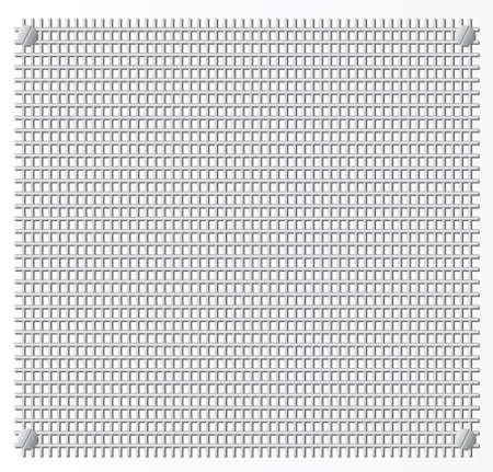 grid: Metal grid.