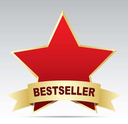 vendedor: etiqueta de estrellas - éxito de ventas