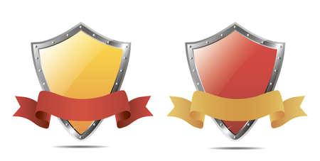 ribbon: Shields and ribbon. Vector