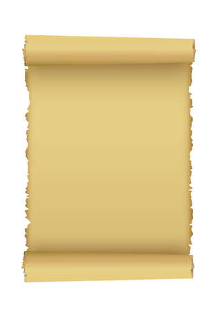 scroll: Scroll of old paper.