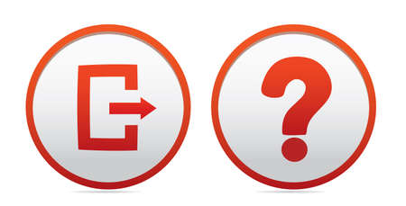 Exit and questions icons.