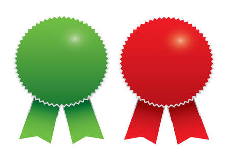 qualify: Blank awards. Vector