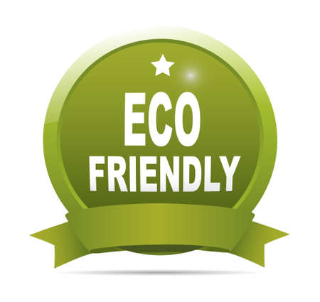 symbol sign: Label - Eco friendly. Illustration