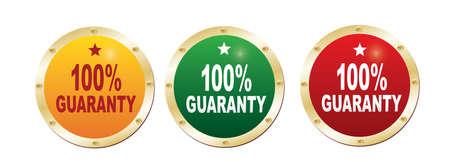 guaranty: Labels - 100 guaranty.
