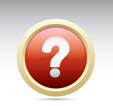 Question mark button Vectores