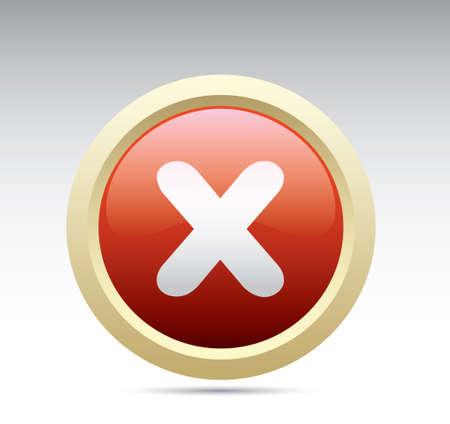Cancel button. Ilustração