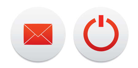 Power and mail button icons