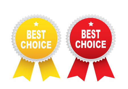 qualify: Labels - Best choice. Vector Illustration