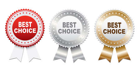 Labels - Best choice. Vector Illustration