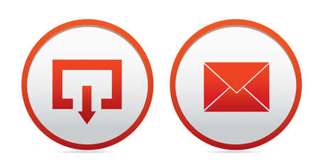 autographing: Mail icons, eps 10 vector
