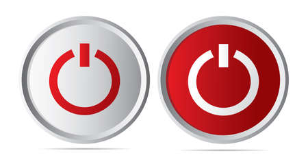 button icons: Power button icons Illustration