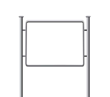 Blank vertical billboard. Vector