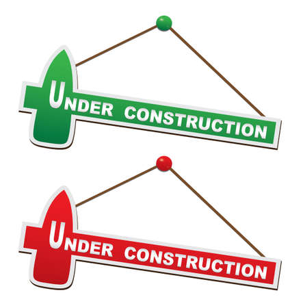 signboard: Under construction - Illustration of signboard Illustration