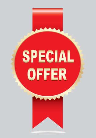 Label - Special offer. Vector Illustration
