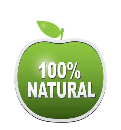 Sign 100 natural
