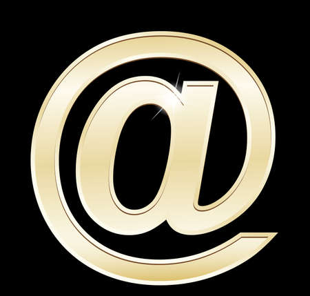 email icon: Gold e-mail icon