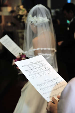 hymn: Hymn, majestic hymns in the wedding is coming welled up sacred feelings meet in the Chapel