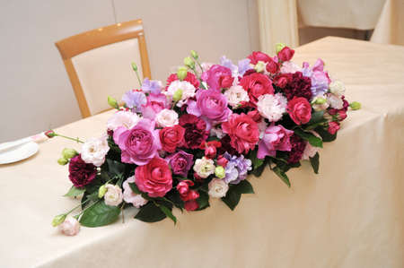 receptions: Brilliant flower arrangements that decorate the terraced