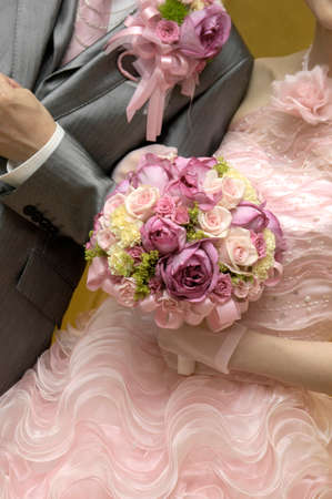 receptions: Very cute wedding bouquet and Karen pink keynote