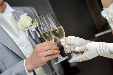 vows: Cheers inspiring the bride and groom toast scene