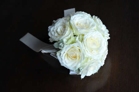 vows: Bouquet wedding bouquet which are arranged in a rose Stock Photo