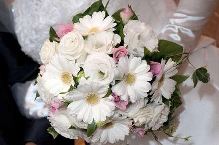 keynote: Bouquet bridal white keynote elegant Raundobuke Stock Photo