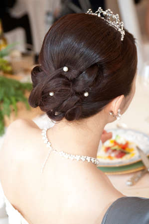mariage: Mariage at wedding reception the bride of nice back style