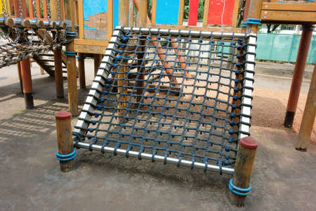 children play area: Childrens play park, Rope mat climbing facility of play childrens park