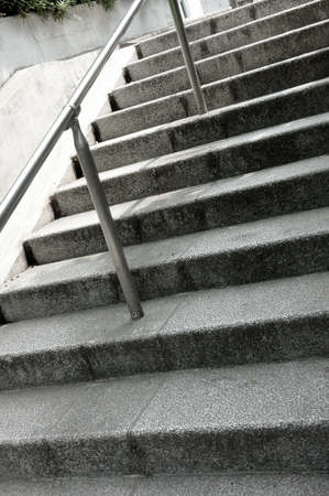handrail: Stairs, City of stairs with a handrail