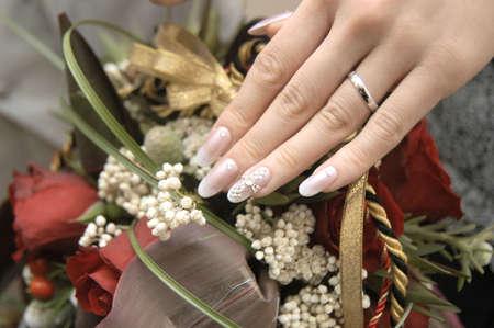 fingertips: Very nice bride fingertips of nail art