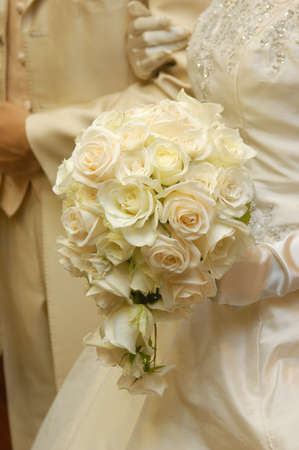 bridal bouquet: Bridal Image, Elegant and romantic, very nice bouquet Stock Photo