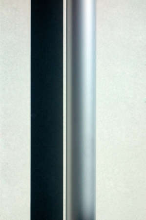 steel: Pipe, Metallic neat stainless steel pipe of shadow Stock Photo