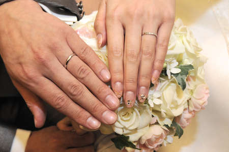 hymn: Bridal Image and Show off in front of a very nice bridal ring Stock Photo