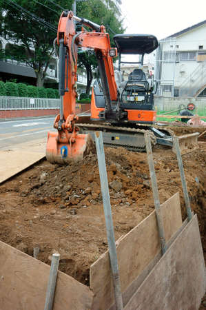 residential construction: Construction, Heavy equipment of residential land development