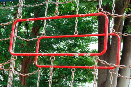 children play area: Hanging wheel, Red square of hanging wheel