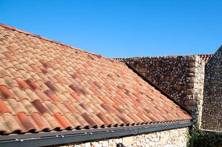 small roof: Hut, Stylish stone hut of southern France style Stock Photo
