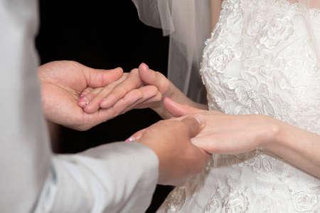 graceful: Brilliant graceful, very nice wedding Stock Photo
