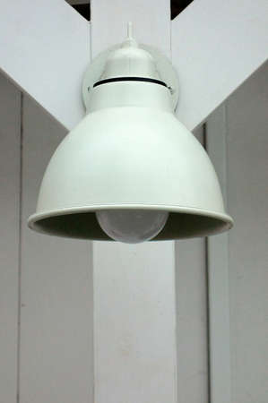 pragmatism: Retro lamp shade, which also serves as a nice utility Stock Photo