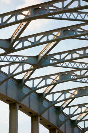 跳開橋の鉄フレームワーク 写真素材