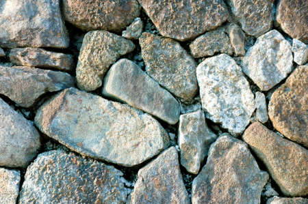 memorandum: Rock work, memorandum to piled up the masonry block Stock Photo