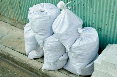 砂災害防止のためのいくつかの袋に詰めて、